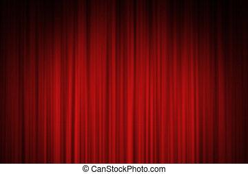カーテン, 赤い背景, ステージ