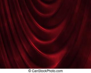 カーテン, 赤