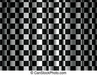 カーテン, checkered