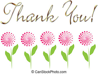 カード, あなた, 花, 感謝しなさい, 金