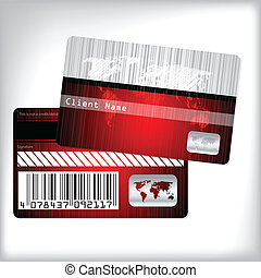 カード, しまのある, 忠誠, デザイン, 地図
