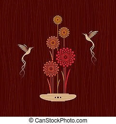 カード, ∥で∥, 鳥, そして, 花