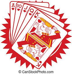 カード, ギャンブル, ポーカー, グラフィック, ギャンブル
