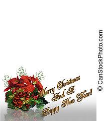 カード, クリスマス, 背景
