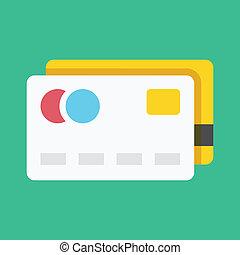 カード, クレジット, ベクトル, アイコン