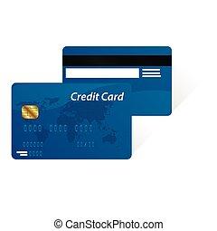 カード, クレジット, ベクトル