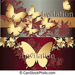 カード, コレクション, 招待