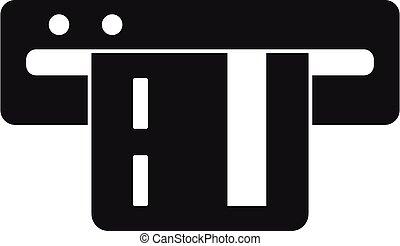 カード, スタイル, 単純である, 駐車, 支払い, アイコン