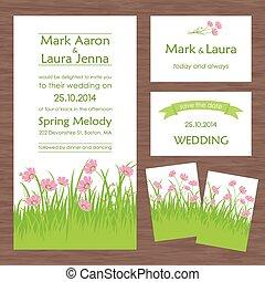 カード, セット, ∥あるいは∥, 招待, 結婚式