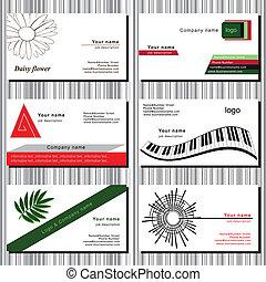 カード, セット, ビジネス