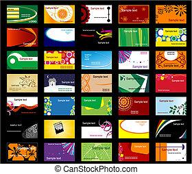 カード, セット, 様々, ビジネス