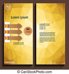 カード, テンプレート, infographics