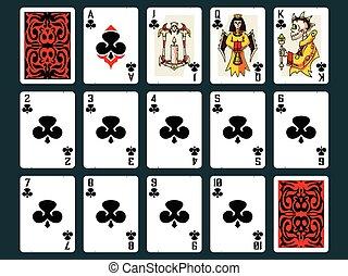 カード, ハロウィーン, クラブ, -, 遊び