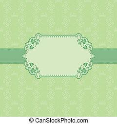 カード, フレーム, デザイン, 挨拶, テンプレート