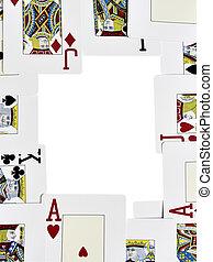 カード, フレーム, 遊び