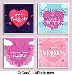 カード, ベクトル, フレーム, デザイン, バレンタインデー