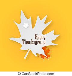 カード, レタリング, illustration., 弾力性, テキスト, 幸せ, 挨拶, 黄色, 感謝祭, バックグラウンド。, 黒, ありがとう, 葉, 白, 手, 日, かえで, 3d