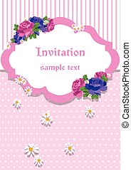 カード, ローズのレース, 装飾, 招待