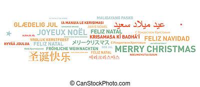 カード, 世界, クリスマス, 陽気