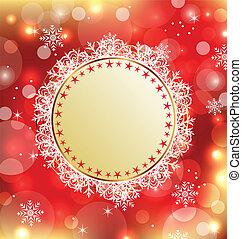 カード, 休日, 挨拶, 背景, クリスマス