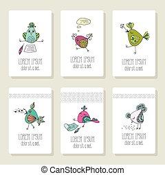 カード, 別, 鳥, イメージ, actions.