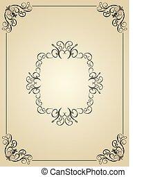 カード, 型, デザイン, 背景, イラスト