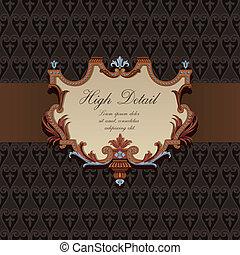 カード, 型, デザイン, style., 贈り物