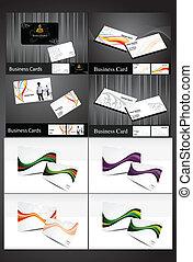 カード, 抽象的, 多数, ビジネス