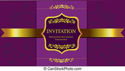 カード, 招待
