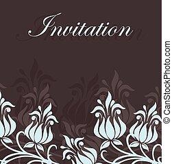 カード, 招待, 花