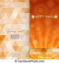 カード, 挨拶, テンプレート, デザイン