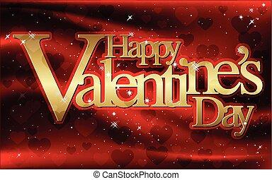 カード, -, 挨拶, ベクトル, バレンタイン 日, 幸せ