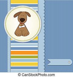 カード, 挨拶, 犬