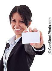 カード, 提出すること, ビジネス