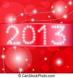 カード, 新年, 幸せ, 2013