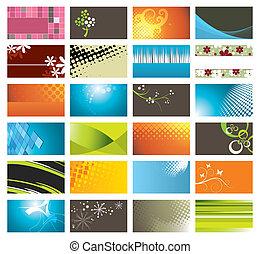 カード, 現代, カラフルである, ビジネス
