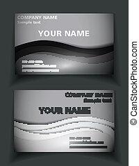 カード, 白, 黒, ビジネス