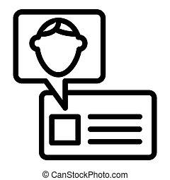 カード, 網, スタイル, icon., 10., アウトライン, 隔離された, イラスト, eps, app., ベクトル, white., 学生, 線, デザイン, id, アイデンティティー, 設計された