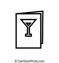 カード, 線, ワイン, スタイル, メニュー