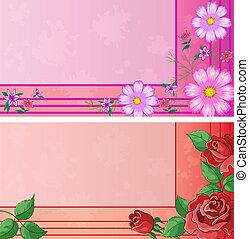 カード, 花, ビジネス