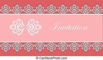 カード, 装飾, 招待