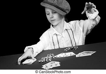 カード, 遊び, 子供