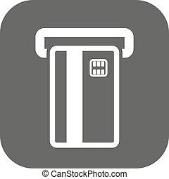 カード, 金融, icon., シンボル。, atm, 支払い, ecommerce, creditcard, 銀行業, スロット, 平ら