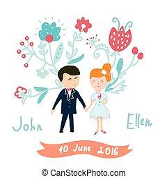カード, 面白い, 招待, 結婚式