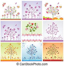 カード, 面白い, 木