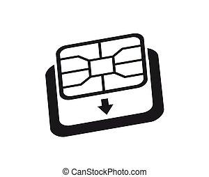 カード, icon., 電話, nano, 変換器, sim-card, シンボル。, sim, esim, アダプター