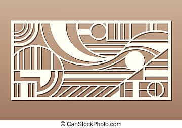 カード, illustration., 幾何学, 数字, 切口, 装飾用である, ベクトル, 比率, レーザー, 線, ...