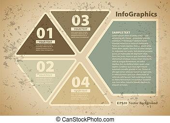 カード, infographic, 三角