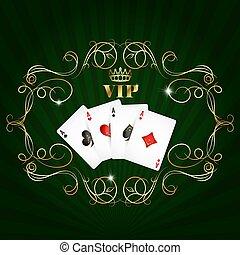 カード, vip, デザイン, 遊び
