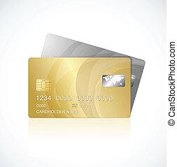 カード, vip, 銀, 金